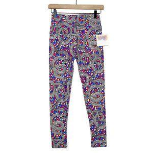 LuLaRoe Snake Pixel Rainbow Mosaic Print Leggings